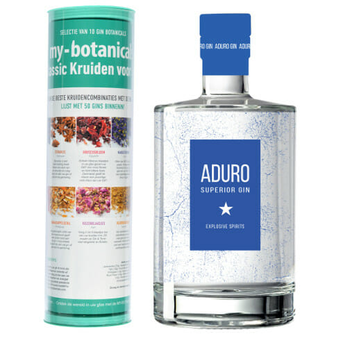 Aduro Superior gin & my-botanicals Classic infusion tube